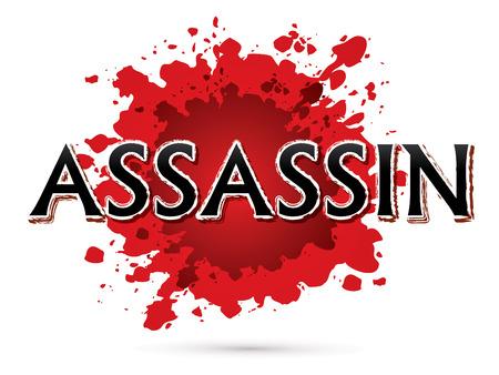 assassin: Assassin, Font , text graphic vector