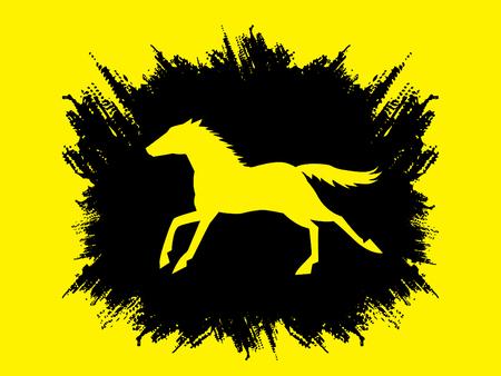 Horse running, designed using splash ink graphic vector.