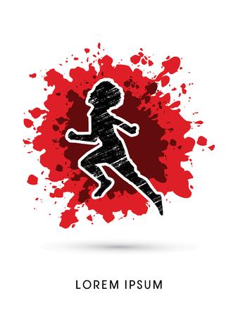 child abuse: Stop Child Abuse designed using grunge brush on splash blood background graphic vector. Illustration