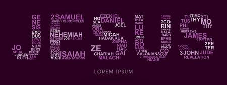 Jesus, designed using bible words genesis to revelation graphic vector.