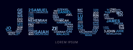 genesis: Jesus, designed using bible words genesis to revelation graphic vector.