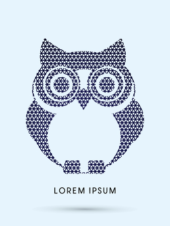 head wise: Owl, designed using line triangle pattern graphic vector. Illustration