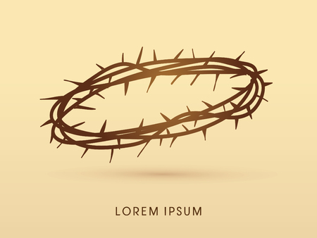 thorns: Jesus crown of thorns graphic vector