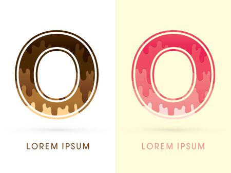 melt: O Font , Chocolate and strawberry melt graphic vector