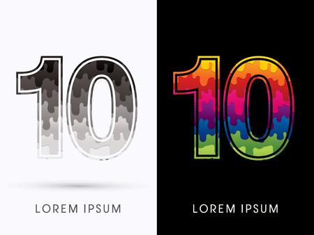 melt: 10 Font , Colors and black melt graphic vector.
