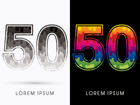 melt: 50 Font , Colors and black melt graphic vector