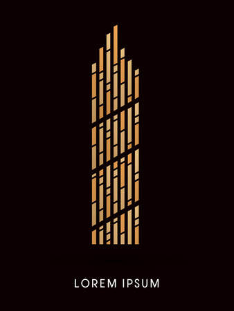 abstract building: Sky building tower Abstract construction, design graphic vector