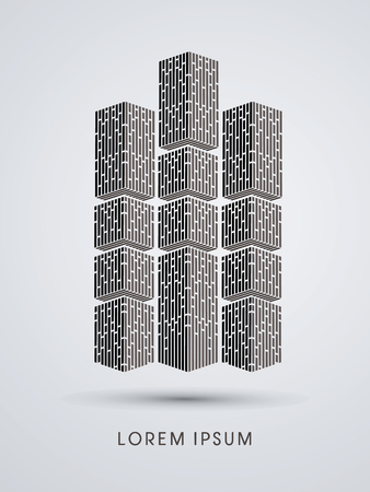 condominium: Condominium Abstract construction, design graphic vector Illustration