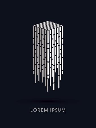 Samenvatting van de Toren bouw, grafisch vector