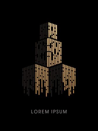 Luxus Sky Building abstrakte Konstruktion, Design Vektor-Grafik