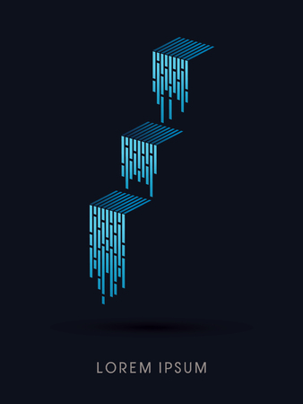 Waterfall Abstract construction, natural concept design graphic vector
