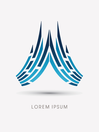 Roof Abstract construction, Iceberg concept design graphic vector