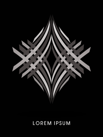 silver jewelry: Silver Jewelry abstract construction, diamond concept design graphic vector.