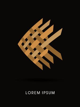 golden fish: Abstract Golden Fish, design graphic vector. Illustration