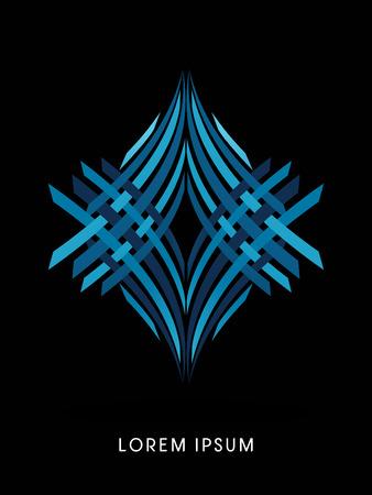 logo art: Jewelry abstract construction, diamond concept design graphic vector.