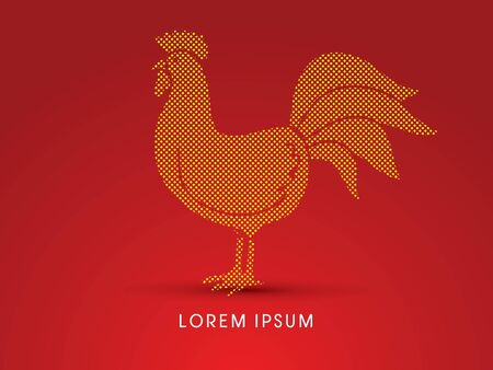food fight: Chicken designed using dot graphic vector