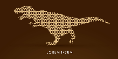 t  rex: T rex dinosaur designed using line triangle pattern graphic vector
