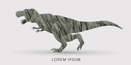 rex: T rex dinosaur designed using black grunge brush graphic vector