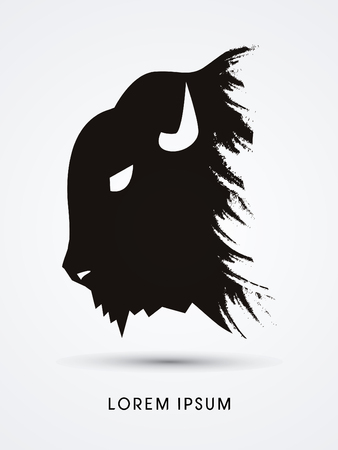 Head Buffalo graphic vector Illustration