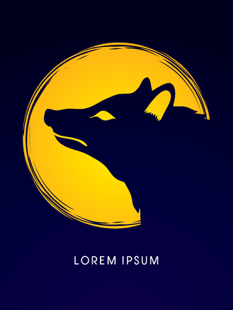 fox: Face Fox designed on moonlight background graphic vector.
