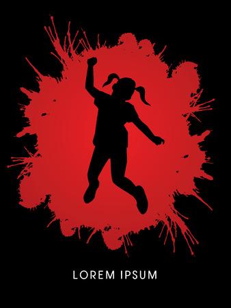 pedophilia: Stop Child Abuse designed on splash blood background graphic vector. Illustration