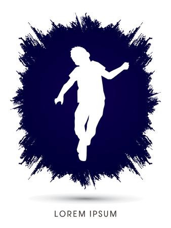 pedophilia: Stop Child Abuse designed on splash frame background graphic vector.