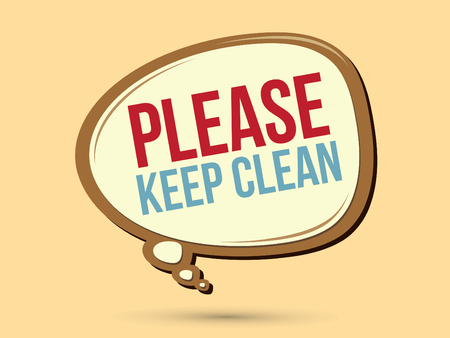keep in: Please keep clean text in balloons graphic vector