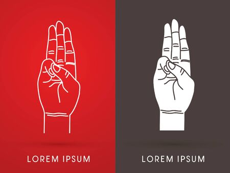 Tree fingers, hand language, Scout honor hand gesture