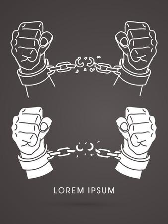mercy: Broken handcuffs Illustration