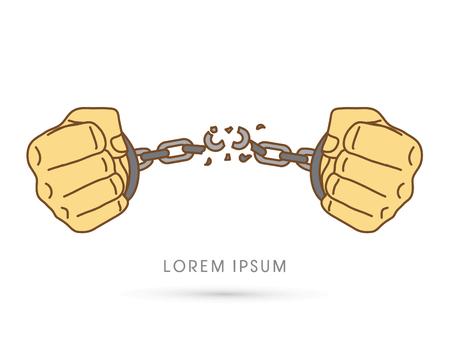 Broken handcuffs Illustration