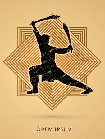 gung: Kung Fu, Wushu with sword pose
