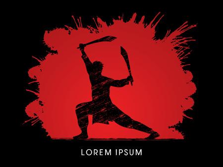 wushu: Kung Fu, Wushu with sword pose