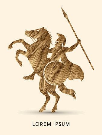 spear: Spartan warrior riders with a spear