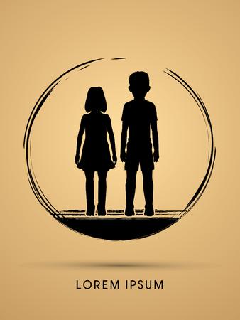 creche: Stop Child abuse, help children graphic vector.