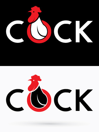 acclaim: Cock designed on grunge splash brush background graphic vector.