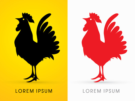 acclaim: Cock silhouette, graphic vector.