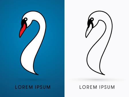 Head Swan graphic vector Stock Illustratie