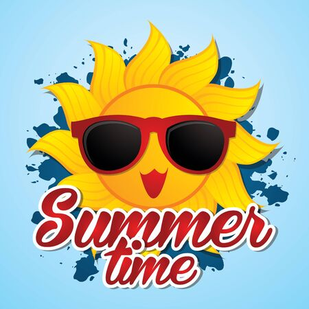 Summer time graphic vector.