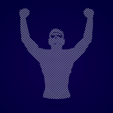 outstretched hand: Freedom man designed using dots graphic vector