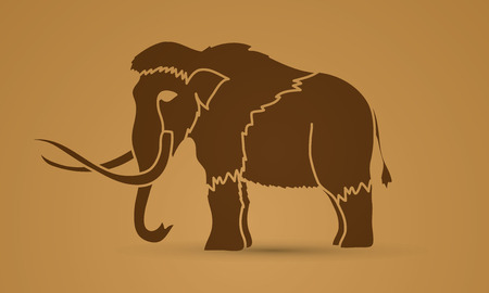 saurian: Mammoth graphic vector.