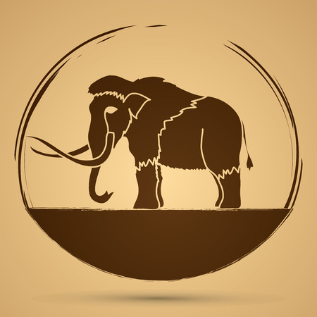 proboscis: Mammoth graphic vector.