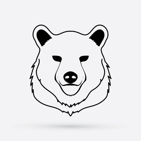 Bear Head designed using outline graphic vector.