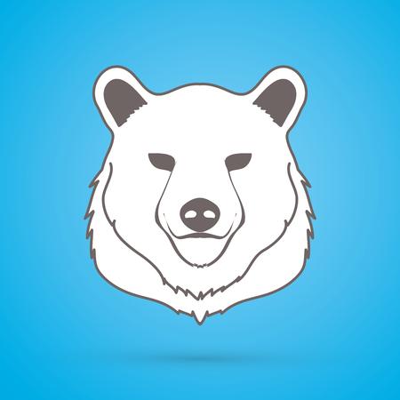 Bear Head graphic vector.