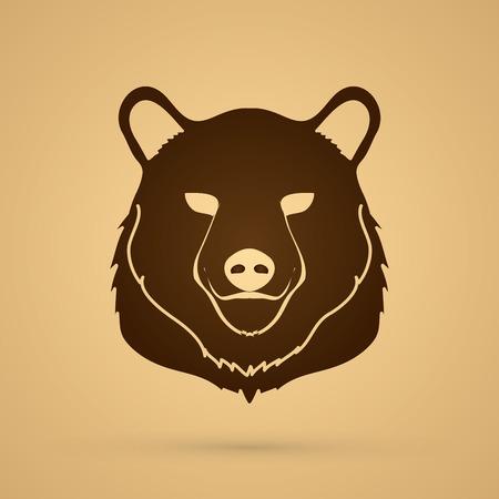 mouth screen: Bear Head graphic vector.