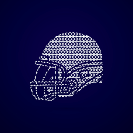 american football helmet: American football Helmet side view designed using geometric pattern graphic vector.
