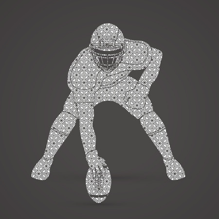 ready logos: American football player posing designed using luxury pattern graphic vector