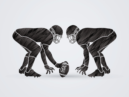 prepare: American Football prepare to battle designed using grunge brush graphic vector