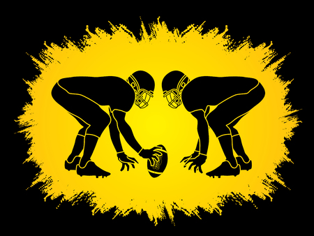 prepare: American Football prepare to battle designed on grunge frame background graphic vector Illustration