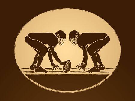 ready logos: American Football prepare to battle graphic vector