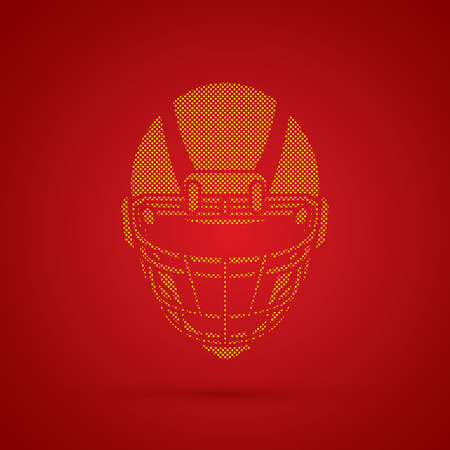 crouches: American football Helmet designed using dots pattern graphic vector.